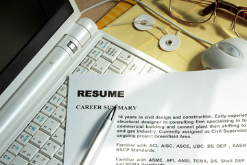 Resume in a computer keyboard