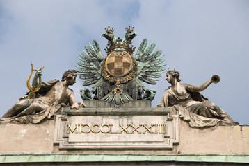 Statue composition - Albertina Castle , Vienna