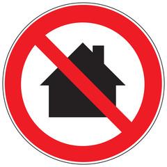 Zeichen Nicht in Wohngebieten verwenden