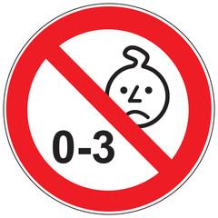 Zeichen Nicht für Kinder unter drei Jahren geeignet