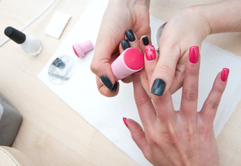 stamping finger nails