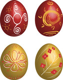 Icon set of Easter eggs