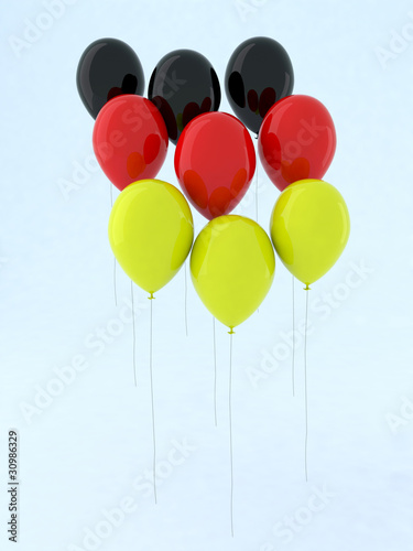 flag balloon germany