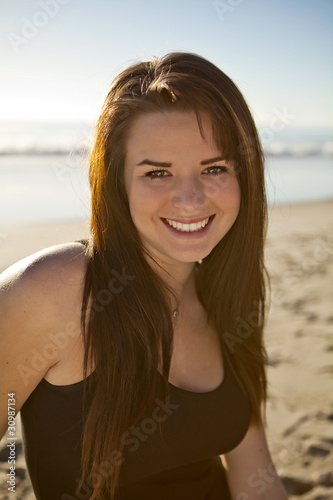 Teen Girl on the Beach