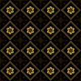 vector black and golden texture with rhombuses poster