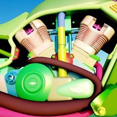 Modern motorbike engine