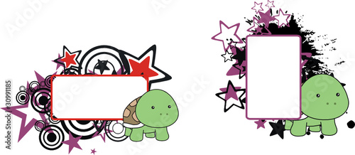 turtle baby cartoon copyspace