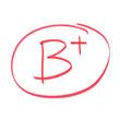 B Plus Grade