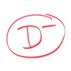 D Minus Grade