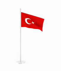 3D flag of Turkey