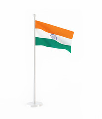 3D flag of India
