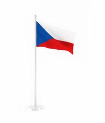 3D flag of Czech Republic