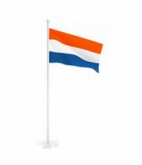 3D flag of Netherlands