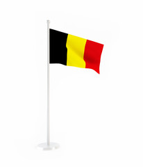 3D flag of Belgium