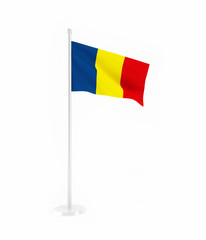 3D flag of Romania