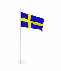 3D flag of Sweden
