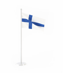 3D flag of Finland