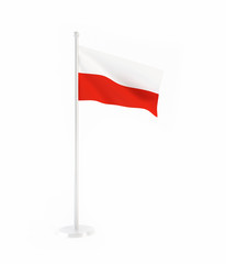 3D flag of Poland