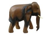 handcraft wooden elephant sculpture poster