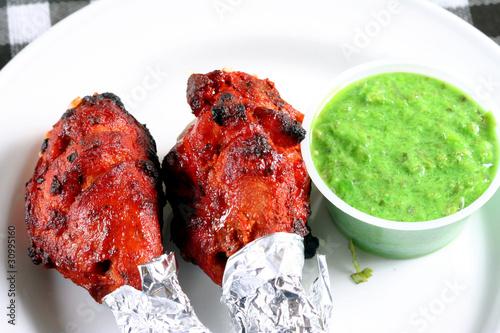 tandoori chicken legs with sauce