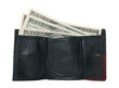 Hundred dollar bills in a wallet