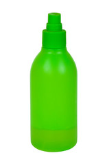 Green toilletries bottle