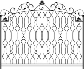 wrought iron Gate, gril, railing