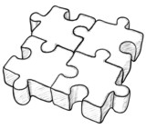 Shaped vector drawing - puzzle