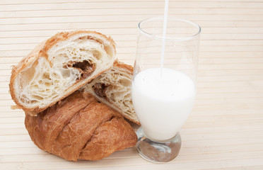 croissants with milk