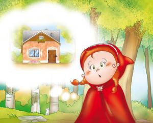 Cappuccetto Rosso deve raggiungere la casa della nonna