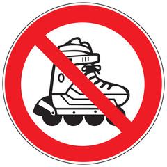 Zeichen Inline-Skating Verboten