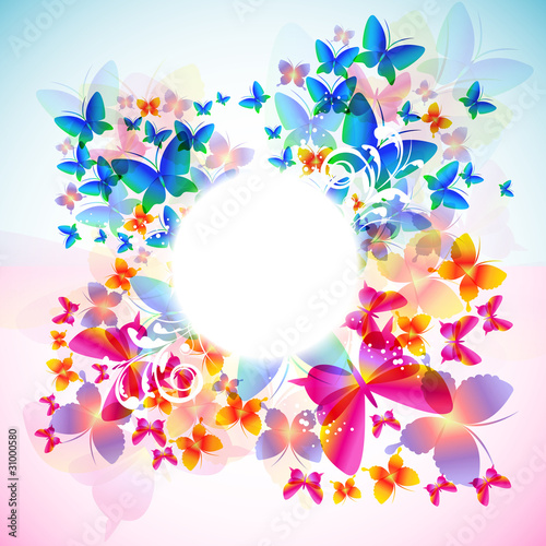Fototapeta Elegant butterfly background with space for text