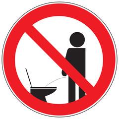 Zeichen Pinkeln im stehen verboten