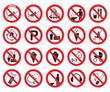 Verbotszeichen Set 2