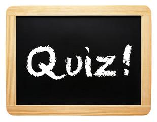 Quiz ! - Konzept Tafel - freigestellt