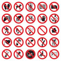 Verbotszeichen Set 1