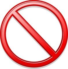 Proibito Vietato Simbolo-Forbidden Symbol-Vector
