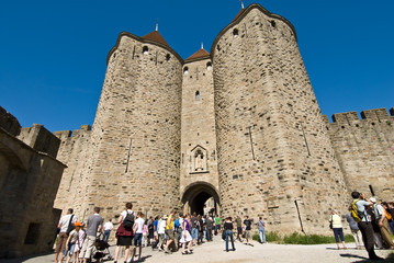 Narbonnaise enter door of carcassonne chateau