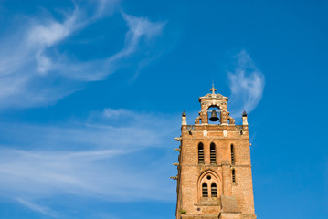 belfry and cloudscape
