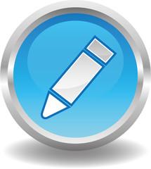 Button rund blau - stift kulli