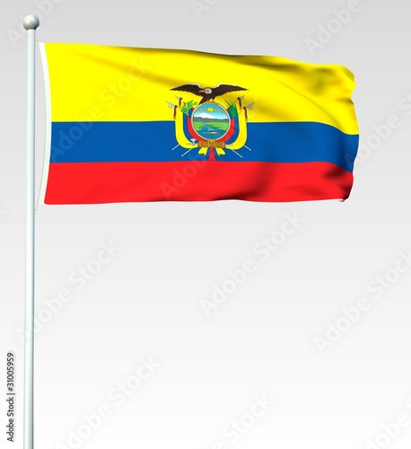 049 - Flagge von Ecuador - Render