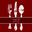 Fork, Knife & Spoon Red