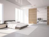 Fototapety white bedroom