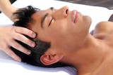 chakras head massage ancient Maya therapy poster