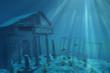Leinwandbild Motiv Undersea Ruins