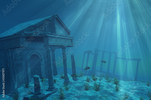 canvas print picture Undersea Ruins