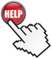 online help button and cursor