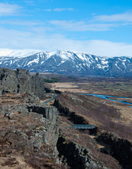 DRIFT OF THE TECTONIC PLATES AT PINGVELLIR ICELAND