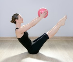 pilates woman stability ball gym fitness yoga