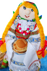 Maslenitsa Puppet close